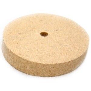 """Image 3 - 4 """"колесо с шерстяного войлока полировка шлифовального круга Полировочный диск Pad роторный инструмент 100*20 мм абразивные инструменты"""