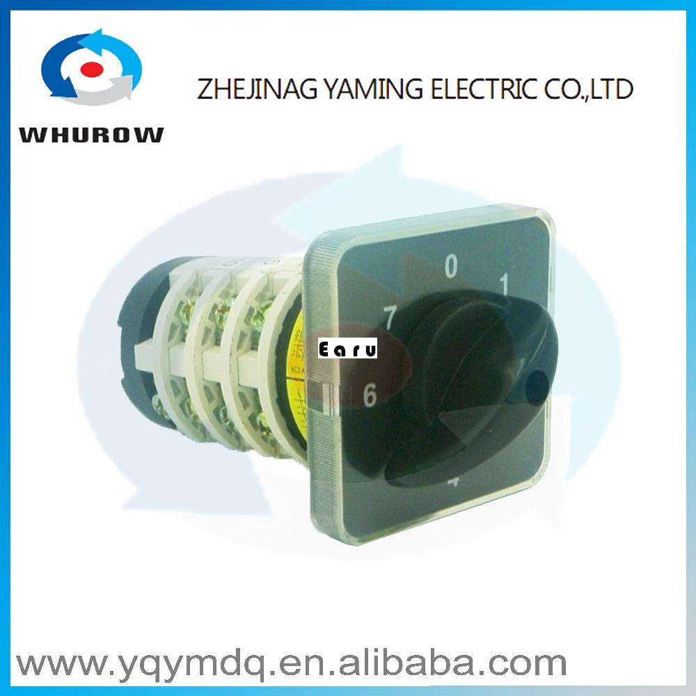 YMZ12-25/4 electrical Combination switches Changeover rotary cam switch 4 pole position sliver contacts high voltage wenzhou lw6d 2 5 position rotary changeover cam combination switch 4kw ui 380v ith 5a