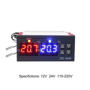 Dual Digital Temperature Controller Double Thermostat Heating Cooling 10A AC 110V 220V DC 12V 24V