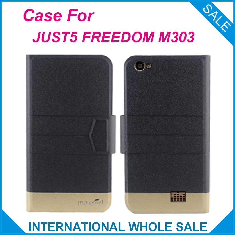 Super! JUST5 FREEDOM M303 Case New Arrival 5 Colors Factory Direct Flip Leather Exclusive Case For JUST5 FREEDOM M303 Cover image