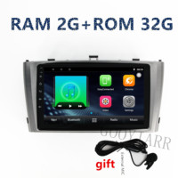 1din quade core 2G+32G Car stereo radio Android8.1 GPS navigation Multimedia Player for toyota Avensis 2009 2010 2011 2012 2015