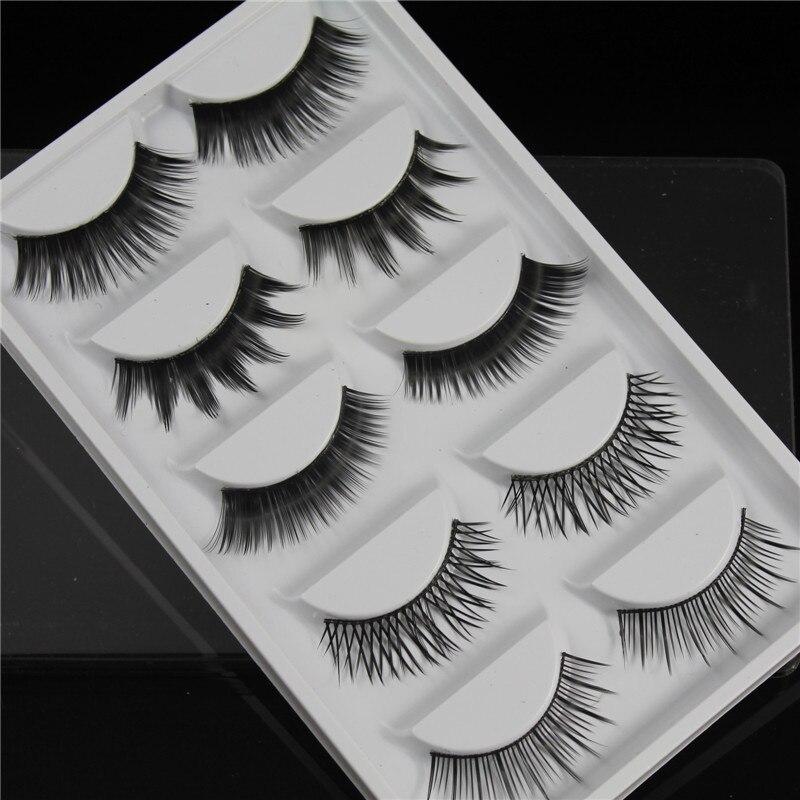 Mix 5 Pairs false eyelashes thick long black mink eyelashes soft makeup eyelash extension faux lashes