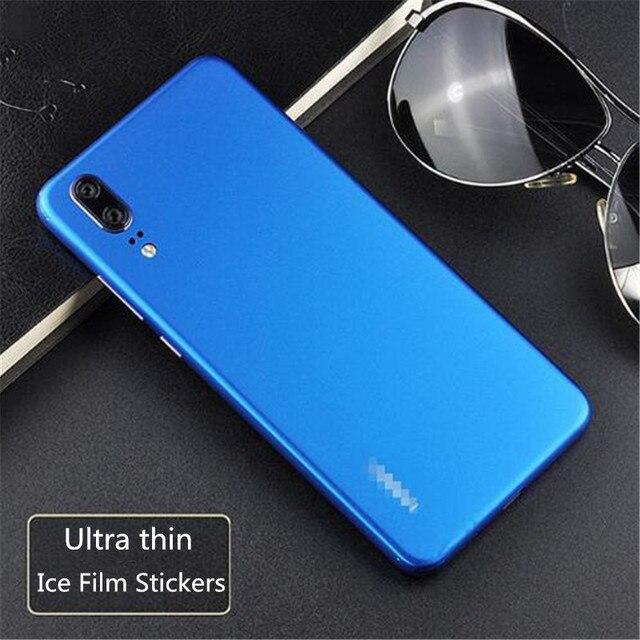 Gelo Da Superfície Para A Huawei Companheiro 20 Pro Ultra Fina Película Decorativa DO PVC Adesivo de Pele Telefone Para Huawei P20 Capa Protetora filme de volta