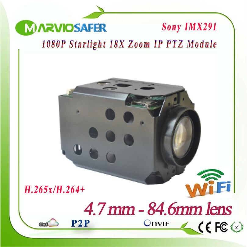 1080 P FULL HD 2MP wi-fi IP PTZ Réseau Module Starlight Coloré nuit Vision Sony IMX291 Capteur Optique 18X Zoom TF Onvif wifi