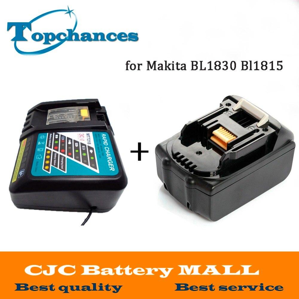 High Quality Brand NEW 3000mAh 18 VOLT Li Ion Power Tool Battery for Makita BL1830 Bl1815