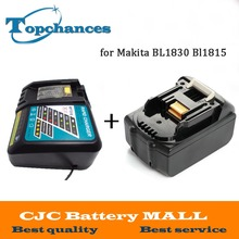 Alta Calidad A Estrenar 3000 mAh 18 v Li-Ion Batería de La Herramienta Eléctrica para Makita BL1830 Bl1815 194230-4 LXT400 + cargador