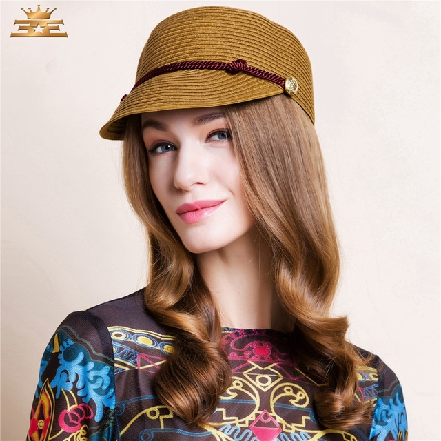 a6c3a38f384 Lady Summer Leisure Straw Hat Women Trend British Wide Brimmed Cap Female  Fashion Classical Female Models