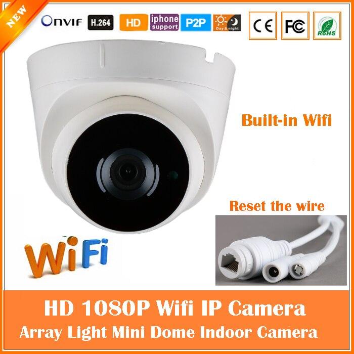 bilder für 1080 p dome ip-kamera wifi 2.0mp überwachungskamera cmos motion erkennen infrarot-nachtsicht webcam freeshipping heißer verkauf