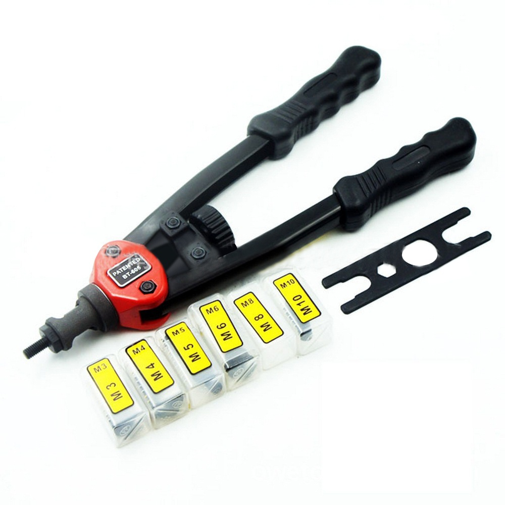 BT - 605 Manual Pull Rivet Nut Gun Riveting Tools  Riveter Nut Tool Heavy Hand Inser Manual Mandrels M3 M4 M5 M6 M8 Hand Tool