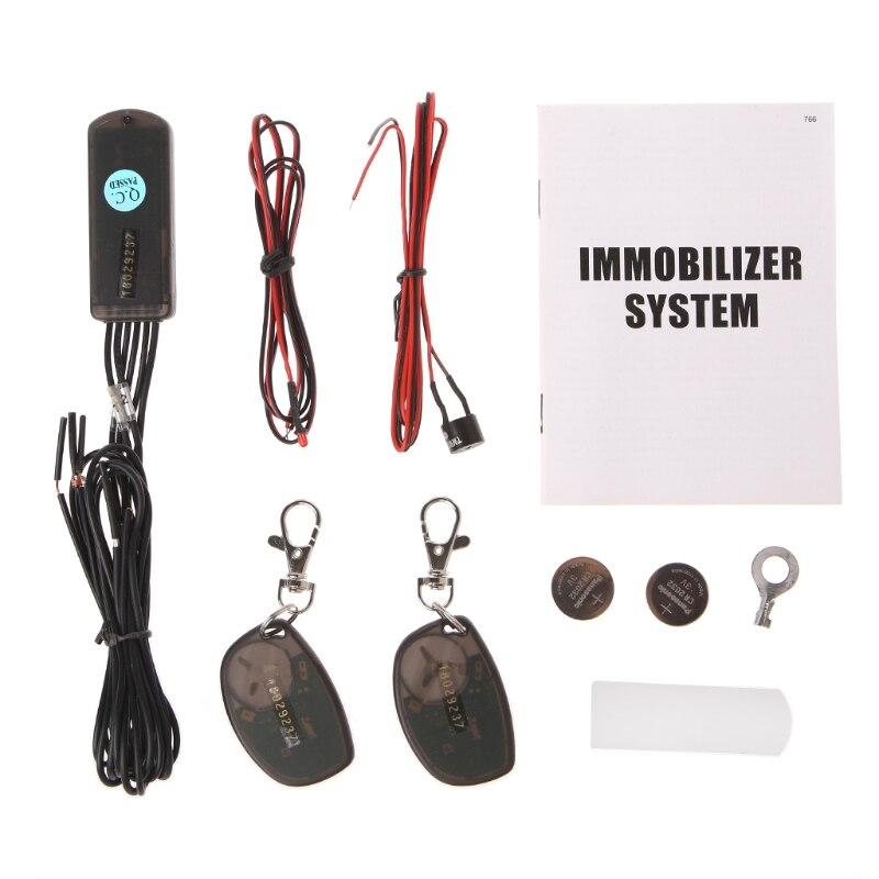 RFID 2.4GHz wireless car immobilizer engine lock anti-hijacking with G-sensor new