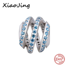 Fit Authentic Silver Pandora Bracelet New style 925 Original blue Charm Antique Bead making Jewelry Gift