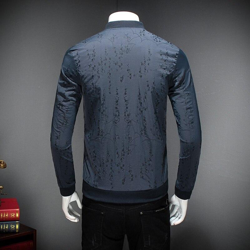 Hommes Coupe Slim Bombardier vent Manteau Belle Marque Longues bleu Casual Printemps 5xl Mens Manches Masculin Nouvelle Imprimer Vêtements Fit Veste Pour Noir qnXOzE6X