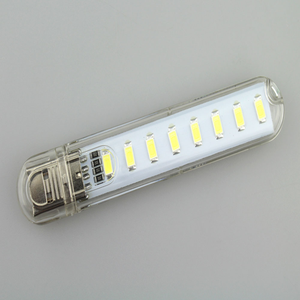 DC5V 8xSMD5730 Cool White 5500-6500K USB LED Bulb LED Night Lamp