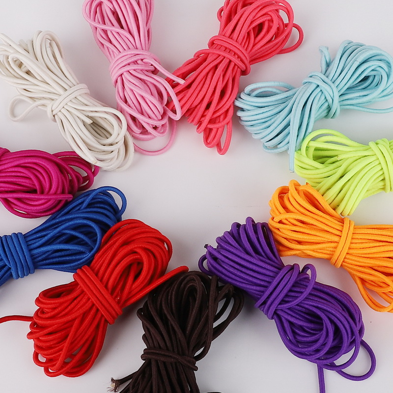 Arts,crafts & Sewing 100% True High-quality 5meter Colorful High-elastic Round Elastic Band Round Elastic Rope Rubber Band Elastic Line Diy Sewing Accessories Home & Garden