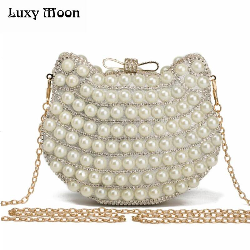 New arriving Pearl evening bags cat head shape beaded clutch bags summer style party bag famous brand design purse and handbags