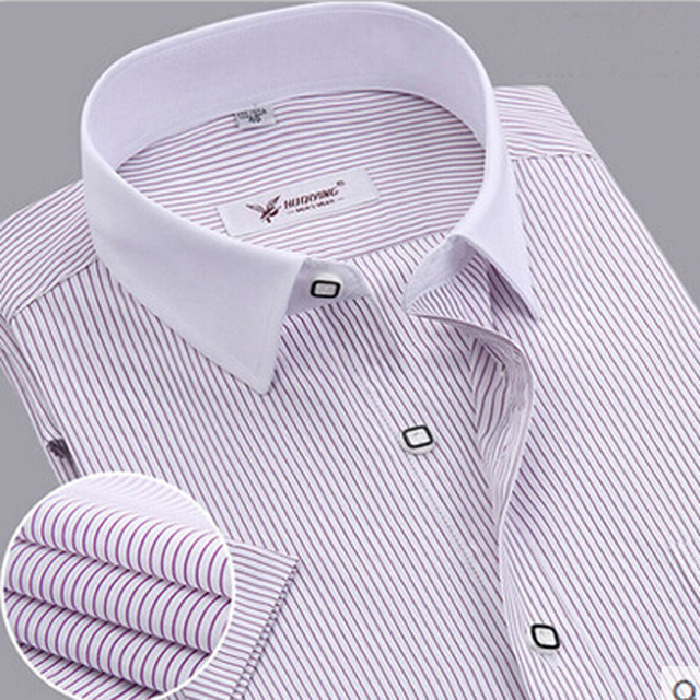 Men Short Sleeve Shirt Mens Clothes Striped Shirt Men Casual Dress Shirts Work Wear Camisa Masculina Cotton Plus Size New 2017