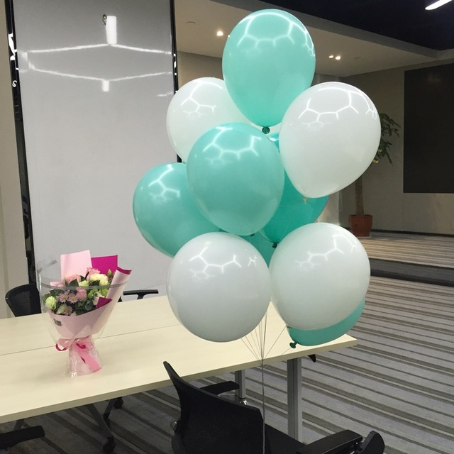 Tiffany Blue Balloons 10pc Thick Ball Birthday Ballons Decorations