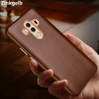 For Huawei Mate 10 Case Cover Luxury Cute Genuine Leather Hard Slim Protect Armor Phone Case for Huawei Mate 10 Pro Back Cover