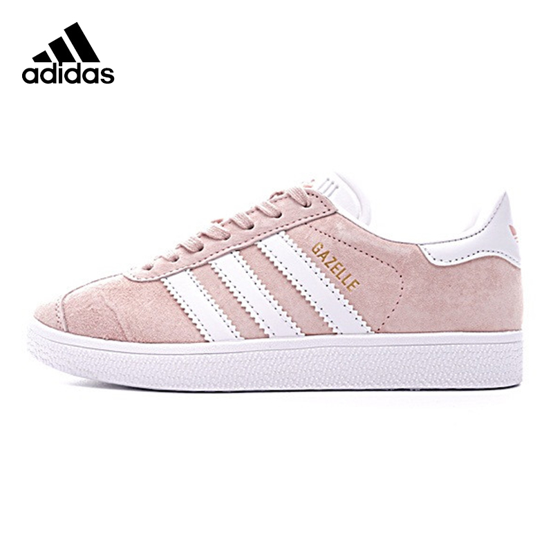 Adidas GAZELLE Clover Women's Walking Shoes , Light Pink, Non slip Wear resistant Damping Breathable BB5472
