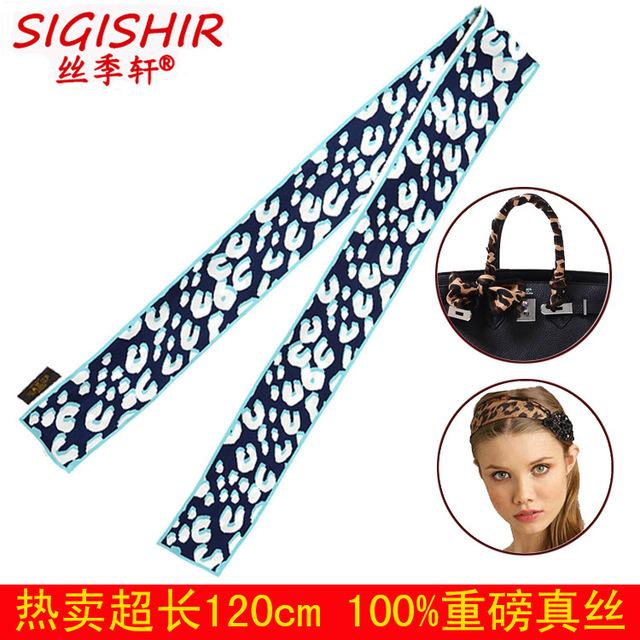 La Nueva Temporada de Seda Xuan Art Dot Bolsa de Mango Pequeño Pañuelo Atado Lazo para el Cabello Con Bufandas Al Por Mayor
