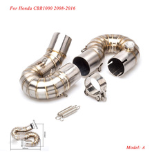 2008 2009 2010 2011 2012 2013 2014 2015 2016 for Honda CBR1000 Motorcycle Stainless Steel Or Titanium alloy Middle Pipe