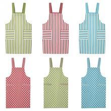 Твердый хлопок и лен кухонный фартук для приготовления пищи домашний Ресторан шеф-повара нагрудник одежда