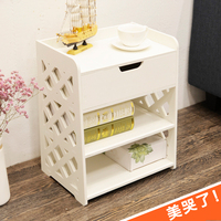 European simple bedside table simple modern mini group fixture cabinet multi function plastic storage rack Nordic lo829218