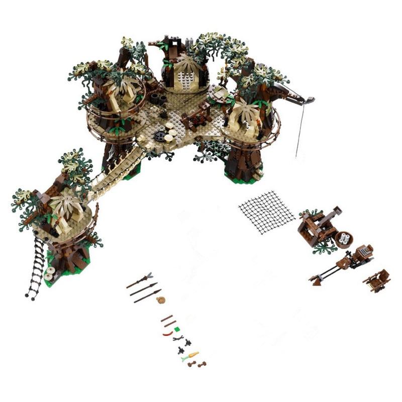 Star War 1990 sztuk Ewok wioska modelu budynku zestawy bloki Juguete Para Construir cegły zabawki dla childfen kompatybilny blok cegła w Klocki od Zabawki i hobby na  Grupa 2