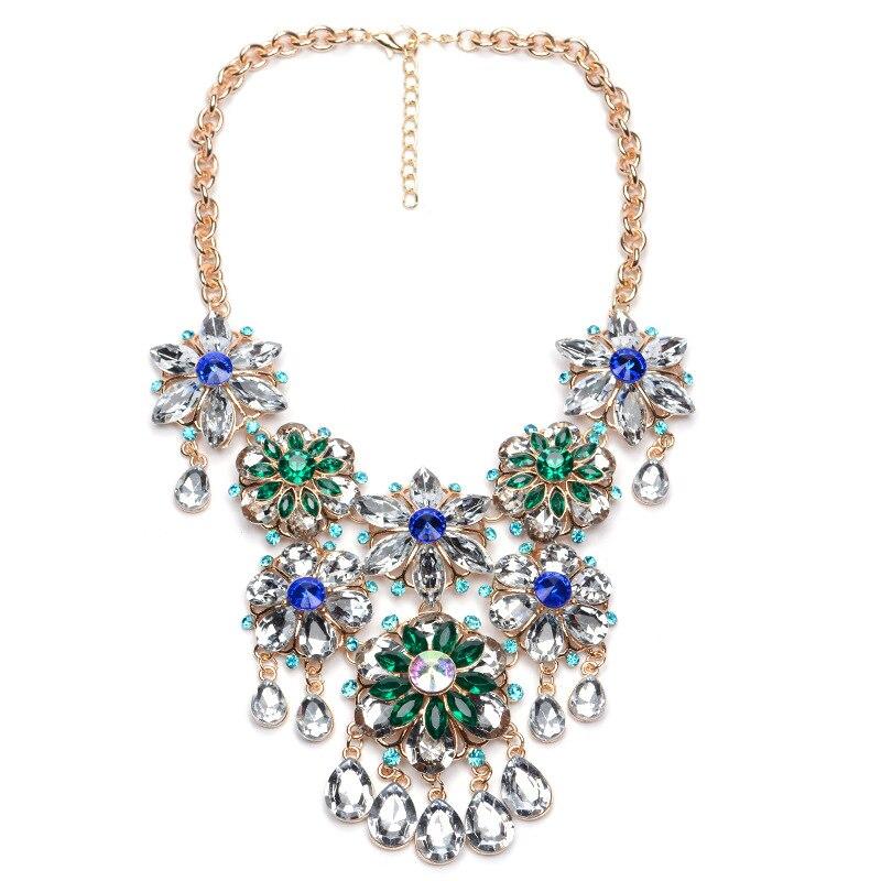 2016 Luxury Brand Jewelry Crystal Flower Statement...