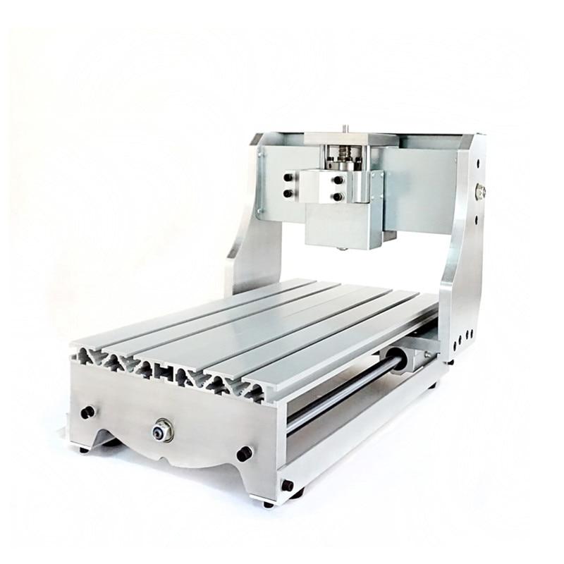 Kit de cadre de CNC 3020Z bricolage avec axe optique à vis à billes et roulements pour couplage de base de moteur pas à pas de fraiseuse PCB
