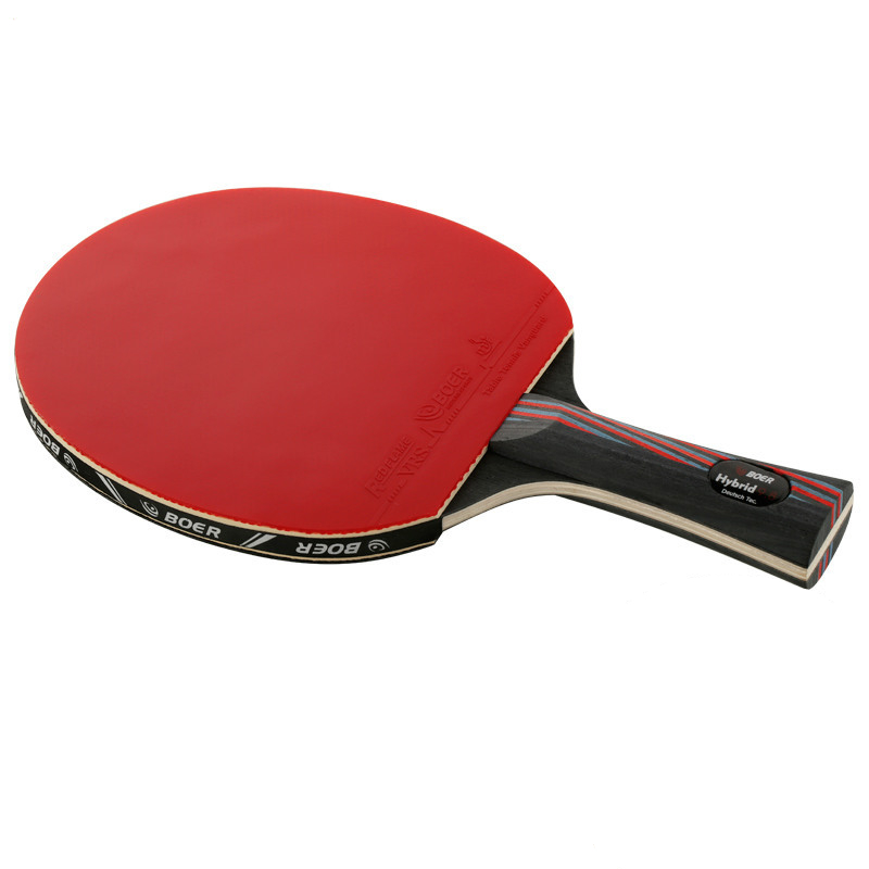 1x Brand Quality Carbon Fiber Table Tennis Racket Blade With Double Face Rackets Rubber Bat Boer With Bag Table Tennis Bat