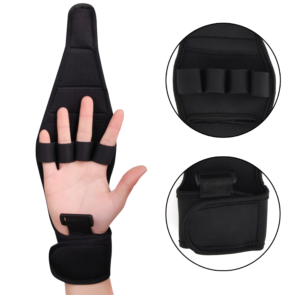 1PC Effective Auxiliary Fixed Gloves Rehabilitation Training Tool Hand Fist Finger Gloves For Stroke Hemiplegia Patient