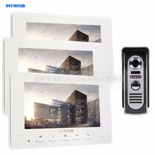 DIYSECUR 7inch Video Intercom Video Door Phone 600TV Line IR Night Vision Outdoor Camera for Home / Office Security System
