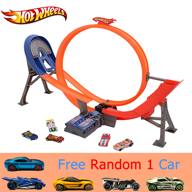 Hot Wheels Electric Car Track Plastic Matal Railway Vehicles Kid Toy Brinquedo Educativo Hotwheels Clic
