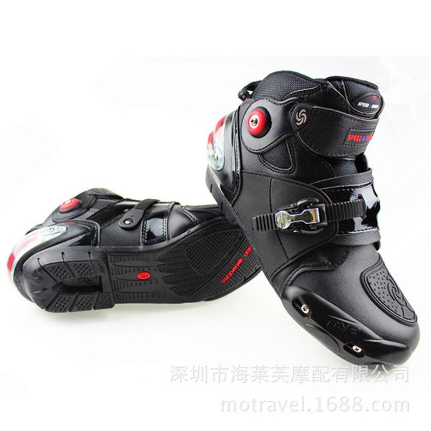 Nouvelles chaussures d'équitation de moto de vitesse, bottes courtes, chaussures de course anti-chute, bottes de course d'été de printemps évitement de Collision
