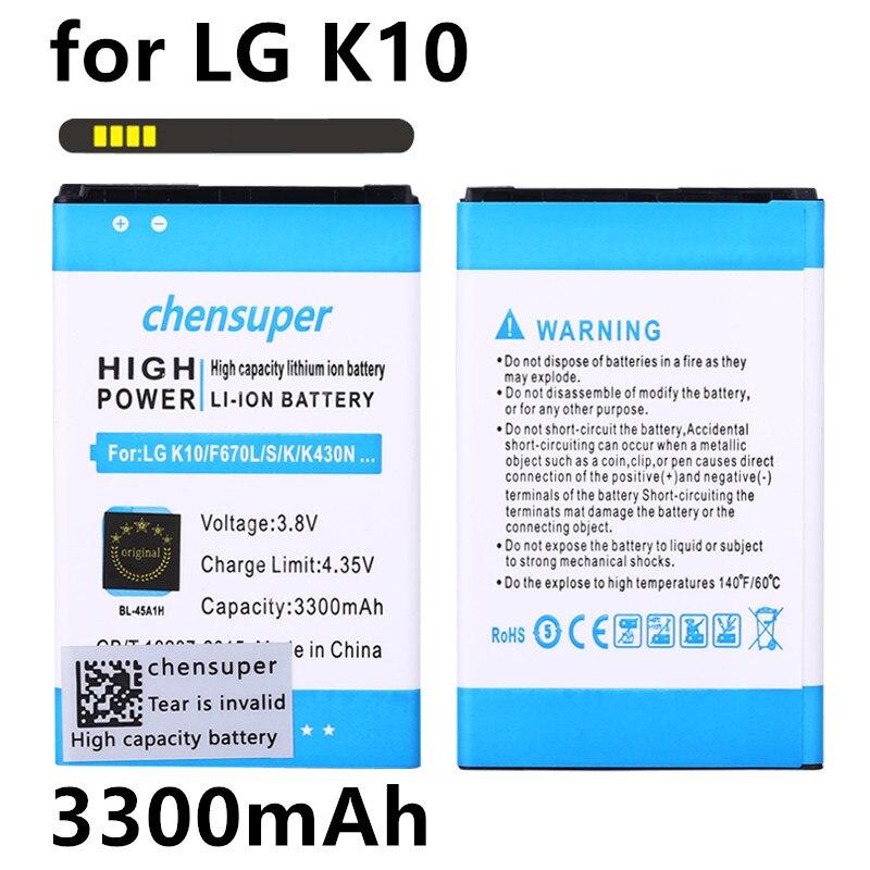 Battery Bl-45a1h/bl45a1h K10 For LG F670L/F670K/F670S/.. Q10 3300mah New