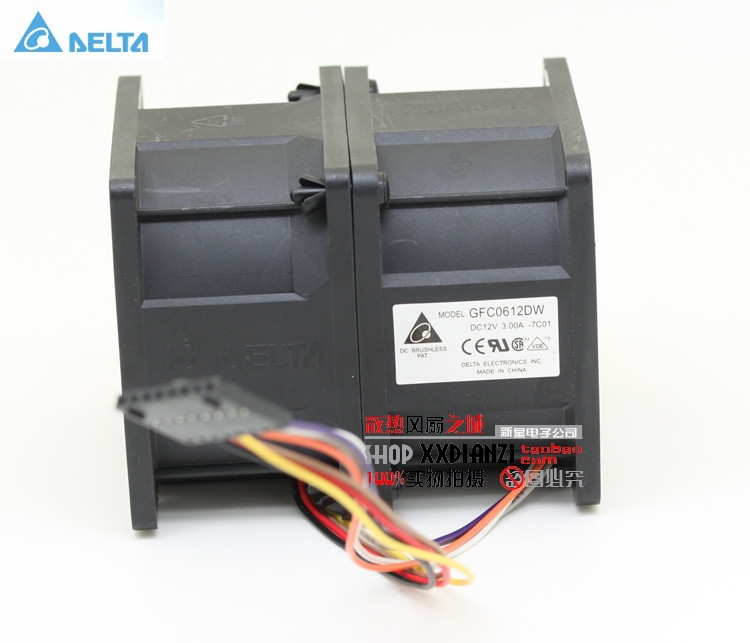 Delta GFC0612DW 6076 6cm 60mm DC 12V 3A high- speed  car booster fan violence power cooler delta new ffr1212dhe 12038 12cm super fan 12v 6 3a car booster fan violence 120 120 38mm