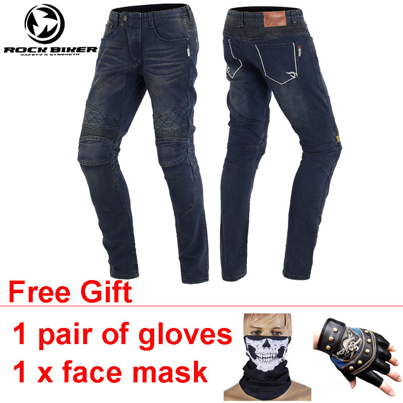 ROCKBIKER Slim Motocross Pants Pantalones Motocicleta Hombre Elastic Flexible Wearable Pantaloni Moto Jeans Motorcycle Trousers 2017 new jeans women spring pants high waist thin slim elastic waist pencil pants fashion denim trousers 3 color plus size