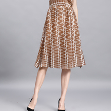 MIYAKE pleats geometric lattice A-shaped pendulum mid-long pleate skirt FREE SHIPPING