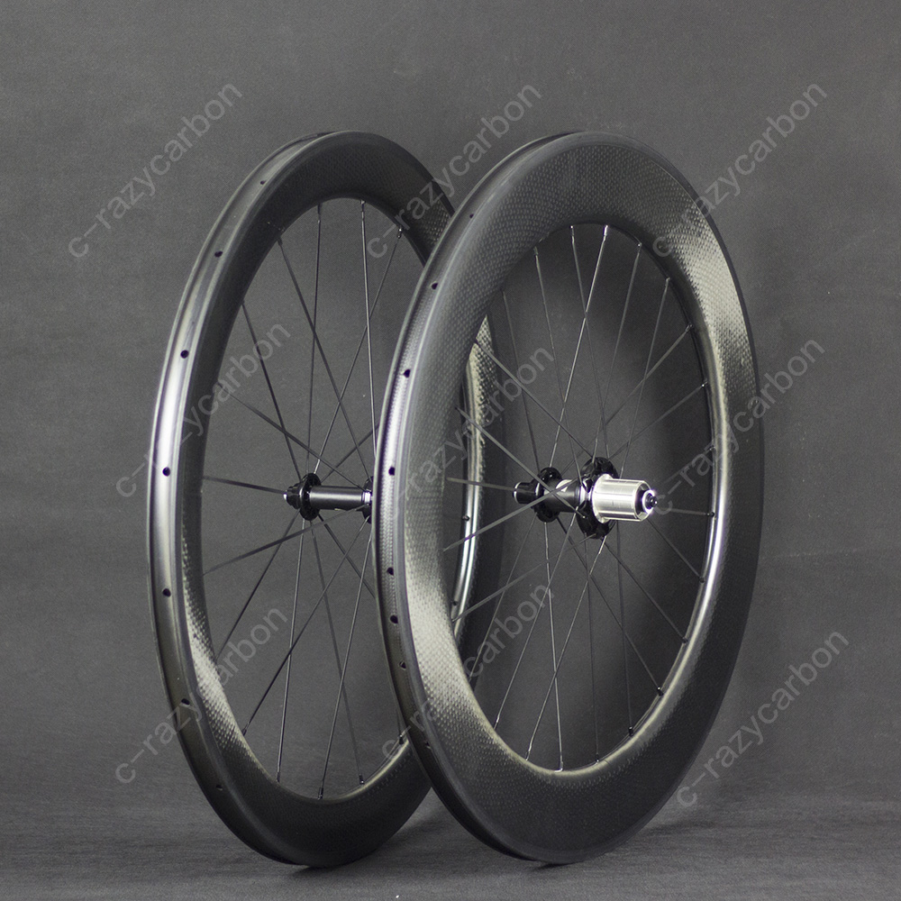 Dimple Carbon Wheels 2 Year Warranty 80mm Clincher Road Bike Carbon Wheel 700C Road Bike Carbon Wheelset