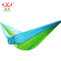 SY 2 People Portable Parachute Hammock Camping Survival Garden Hunting Leisure Hammock Travel Double Person