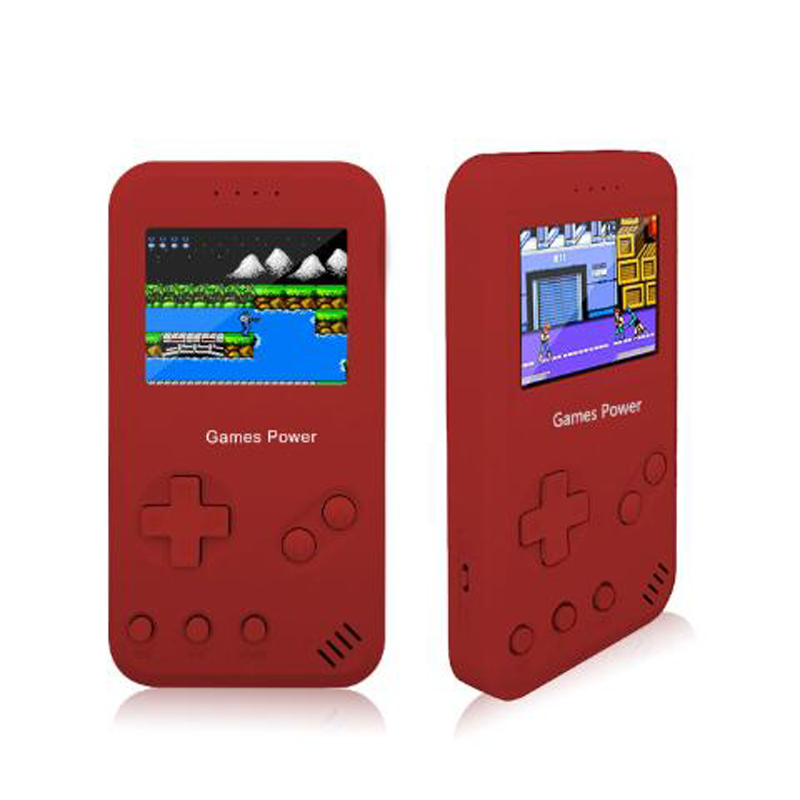 2 IN 1 Portable Game Power Bank Console Retro Handheld Game Console Built In 4000mAh Lithium Battery Rechargeable For Phone MP4 in Handheld Game Players from Consumer Electronics