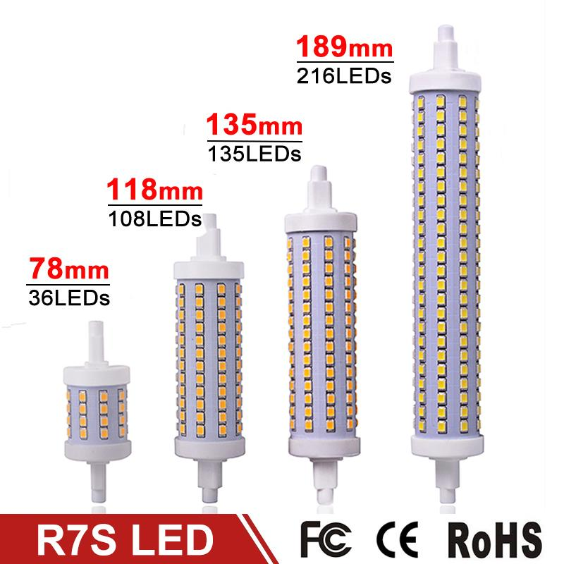 Buy dimmable r7s led lamp 7w 14w 20w 25w for R7s led 78mm 20w