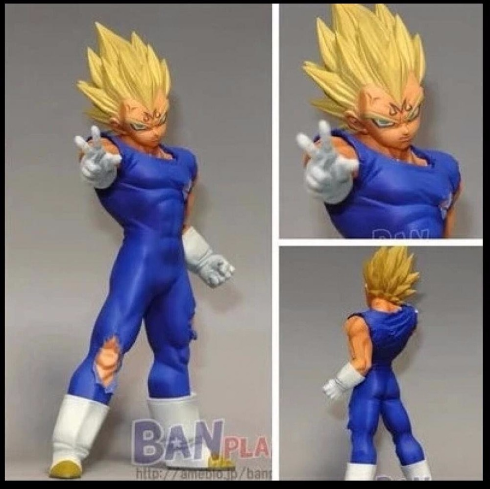 Super Saiyan Majin Vegeta Banpresto DBZ Dragon Ball Z Kai DXF Fighting Combination Vol. 1 Action Figure 14cm ...
