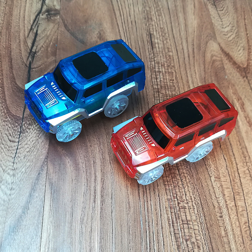 Nuevo Flex Glow Tracks Electric LED Light Up Race Rail Car Roller - Vehículos de juguete para niños - foto 4
