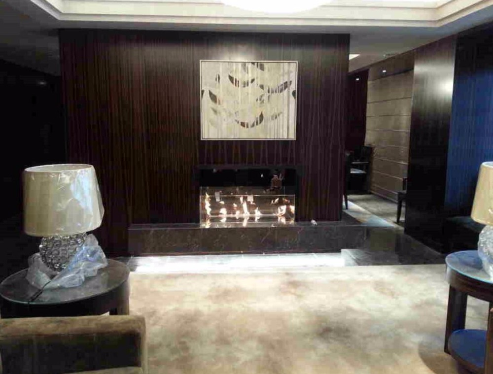 48 Inch Black Or Silver Intelligent Remote Control Bioethanol Fireplace