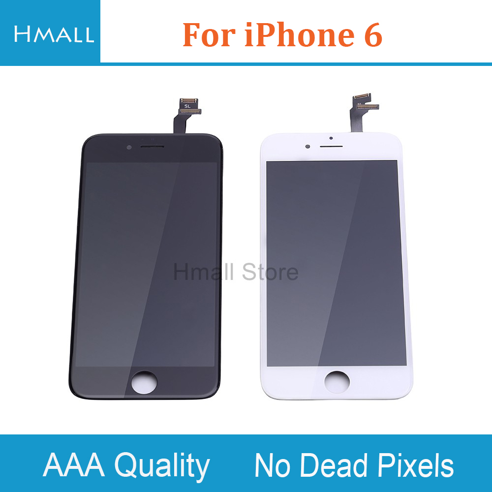 Grade AAA For iPhone 6 LCD Display with Touch Screen Digitizer Assembly Replacement for iPhone6 White/Black Color No Dead Pixels 10pcs lot grade aaa pantalla black white for iphone 5c lcd display with touch screen digitizer assembly in stock free shipping