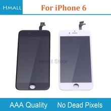 Класс AAA для iPhone 6 ЖК-дисплей с сенсорным экраном планшета Ассамблеи Замена для iPhone6 Цвета: черный и белый нет битых пикселей