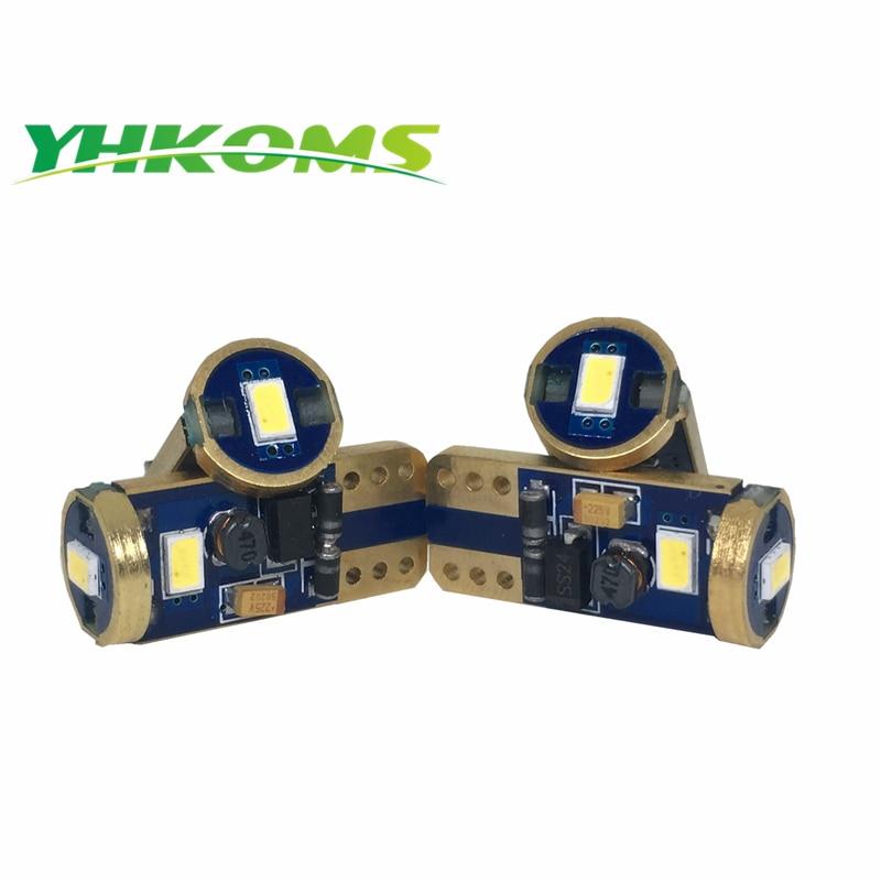 YHKOMS 194 W5W T10 LED unutrašnja rasvjeta nadzorna ploča led žarulje za automobile LED pojedinačna žarulja 12v 24V T10 svjetlost za čišćenje svjetla canbus