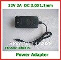10 шт. 12 В 2A 3.0 х 1.1 мм ЕС США Зарядное Устройство для Acer Iconia Tab W3 W3-810 A500 A501 A200 A100 A101 Tablet PC Адаптер Питания